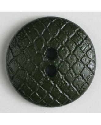 Polyamidknopf leicht gewölbt, Oberfläche ähnelt Waben, 2-Loch - Größe: 18mm - Farbe: grün - Art.Nr. 266615