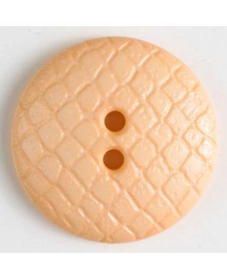 Polyamidknopf leicht gewölbt, Oberfläche ähnelt Waben, 2-Loch - Größe: 18mm - Farbe: orange - Art.Nr. 266618