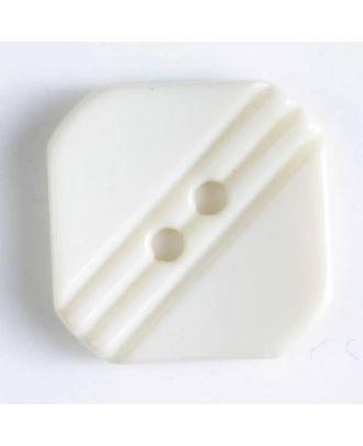 Polyamidknopf mit Löchern - Größe: 15mm - Farbe: beige - Art.Nr. 228602