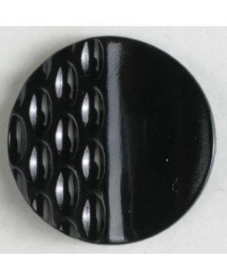 Polyamidknopf mit Löchern - Größe: 18mm - Farbe: schwarz - Art.Nr. 261215