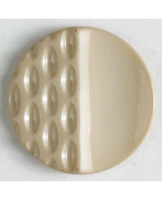 Polyamidknopf mit Löchern - Größe: 18mm - Farbe: beige - Art.Nr. 268601