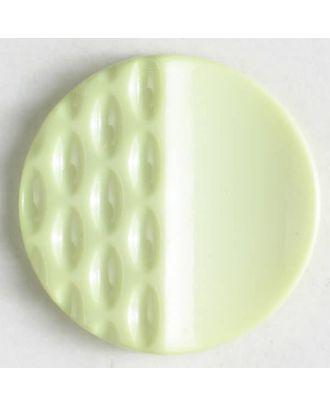 Polyamidknopf mit Löchern - Größe: 18mm - Farbe: grün - Art.Nr. 268605