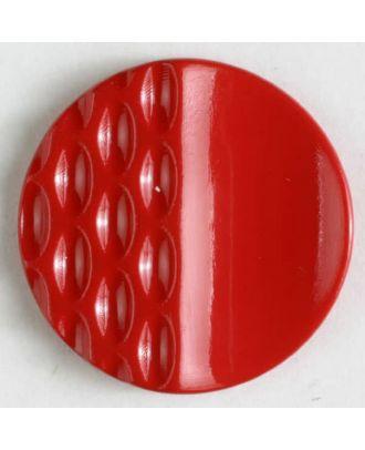 Polyamidknopf mit Löchern - Größe: 18mm - Farbe: rot - Art.Nr. 261217