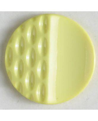 Polyamidknopf mit Löchern - Größe: 18mm - Farbe: gelb - Art.Nr. 268607