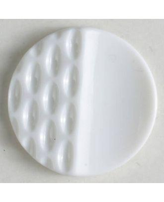 Polyamidknopf mit Löchern - Größe: 18mm - Farbe: weiss - Art.Nr. 261214