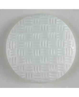 Modeknopf mit Riffelstruktur - Größe: 19mm - Farbe: weiß - Art.Nr. 231280