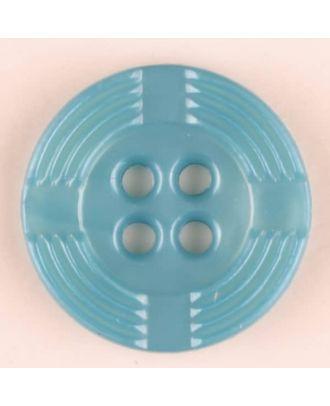 Polyamidknopf, breiter Rand, mit unterbrochenen Rillen durchzogen, rund, 4 loch - Größe: 13mm - Farbe: grün - Art.Nr. 214707