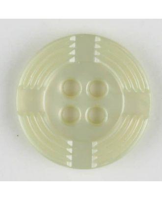 Polyamidknopf, breiter Rand, mit unterbrochenen Rillen durchzogen, rund, 4 loch - Größe: 13mm - Farbe: grün - Art.Nr. 214708