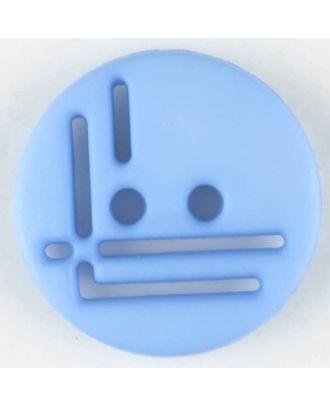 Polyamidknopf, geradlinig durchbrochen, rund, 2 loch - Größe: 14mm - Farbe: blau - Art.Nr. 215709