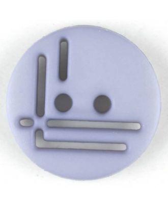 Polyamidknopf, geradlinig durchbrochen, rund, 2 loch - Größe: 14mm - Farbe: lila - Art.Nr. 215711