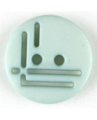 Polyamidknopf, geradlinig durchbrochen, rund, 2 loch - Größe: 14mm - Farbe: grün - Art.Nr. 215712