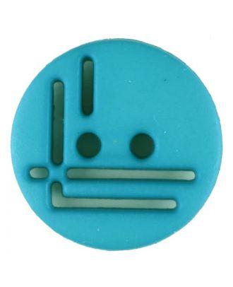 Polyamidknopf, geradlinig durchbrochen, rund, 2 loch - Größe: 14mm - Farbe: grün - Art.Nr. 215714