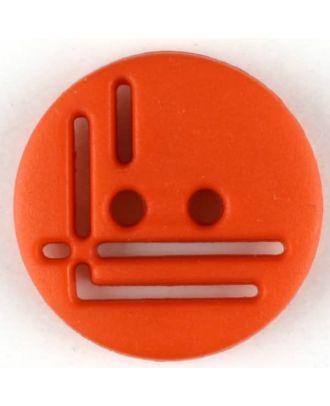 Polyamidknopf, geradlinig durchbrochen, rund, 2 loch - Größe: 14mm - Farbe: rot - Art.Nr. 215717