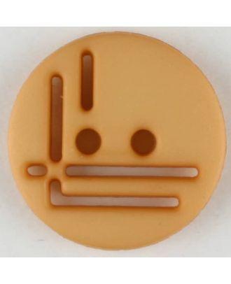 Polyamidknopf, geradlinig durchbrochen, rund, 2 loch - Größe: 14mm - Farbe: orange - Art.Nr. 215722
