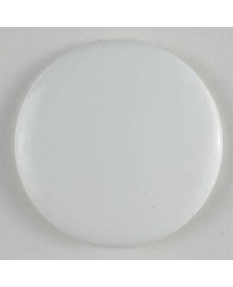 Modeknopf schlicht, glänzend -  Größe: 19mm - Farbe: weiß - Art.Nr. 231248