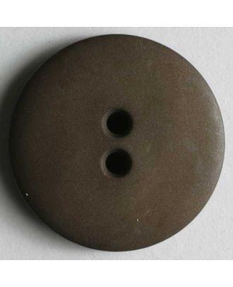 Modeknopf schlicht, matt, 2 Loch -  Größe: 11mm - Farbe: braun - Art.Nr. 150192