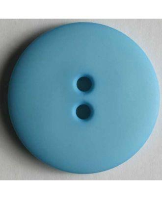 Modeknopf schlicht, matt, 2 Loch - Größe: 13mm - Farbe: blau - Art.Nr. 170402