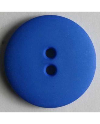 Modeknopf schlicht, matt, 2 Loch -  Größe: 13mm - Farbe: blau - Art.Nr. 170423