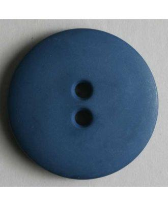 Modeknopf schlicht, matt, 2 Loch - Größe: 11mm - Farbe: blau - Art.Nr. 150196