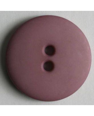 Modeknopf schlicht, matt, 2 Loch - Größe: 11mm - Farbe: lila - Art.Nr. 150200