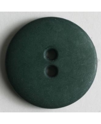 Modeknopf schlicht, matt, 2 Loch -  Größe: 11mm - Farbe: grün - Art.Nr. 150203