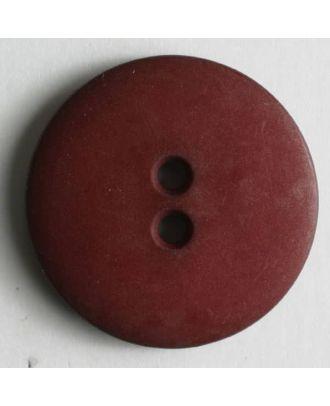 Modeknopf schlicht, matt, 2 Loch - Größe: 11mm - Farbe: rot - Art.Nr. 150208