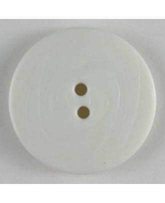 Modeknopf abwechselnd matt und glänzend, 2 Loch - Größe: 19mm - Farbe: weiß - Art.Nr. 221113