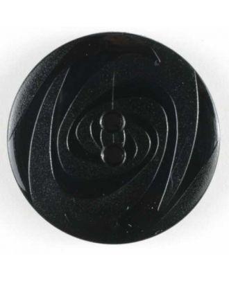 Modeknopf abwechselnd matt und glänzend, 2 Loch -  Größe: 19mm - Farbe: schwarz - Art.Nr. 221114