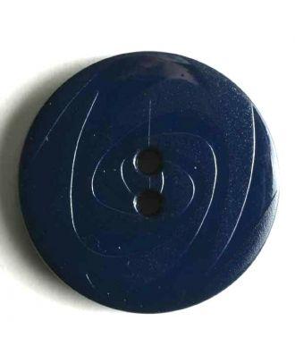 Modeknopf abwechselnd matt und glänzend, 2 Loch -  Größe: 19mm - Farbe: blau - Art.Nr. 221118