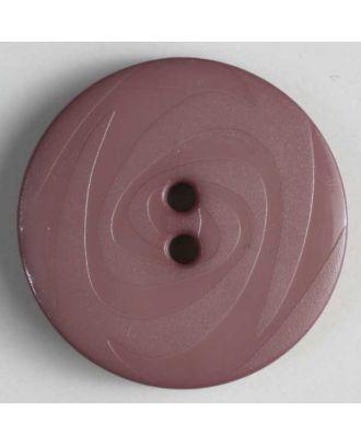 Modeknopf abwechselnd matt und glänzend, 2 Loch - Größe: 19mm - Farbe: lila - Art.Nr. 221204