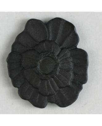 Kunststoffknopf Blume mit Öse - Größe: 18mm - Farbe: braun - Art.Nr. 244601