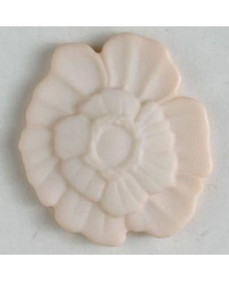 Kunststoffknopf Blume mit Öse - Größe: 18mm - Farbe: pink - Art.Nr. 244605