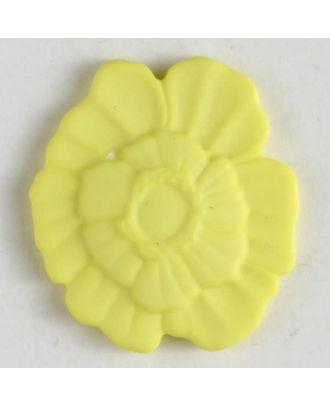 Kunststoffknopf Blume mit Öse - Größe: 18mm - Farbe: gelb - Art.Nr. 244607