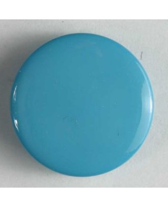 Modeknopf schlicht, glänzend - - Größe: 10mm - Farbe: blau - Art.Nr. 150151