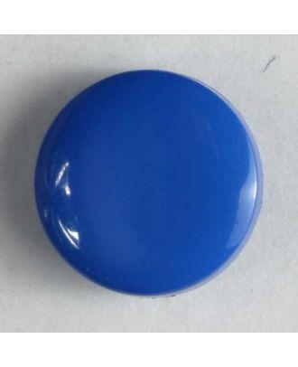 Modeknopf schlicht, glänzend -  Größe: 10mm - Farbe: blau - Art.Nr. 150152