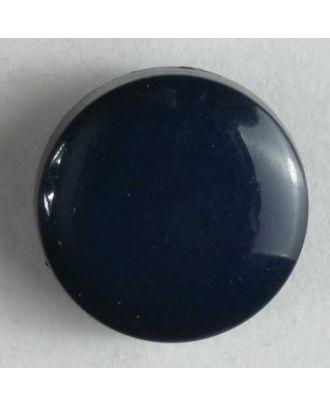 Modeknopf schlicht, glänzend - Größe: 10mm - Farbe: blau - Art.Nr. 150153