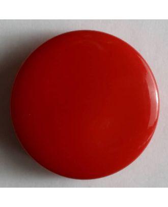 Modeknopf schlicht, glänzend - Größe: 10mm - Farbe: rot - Art.Nr. 150161