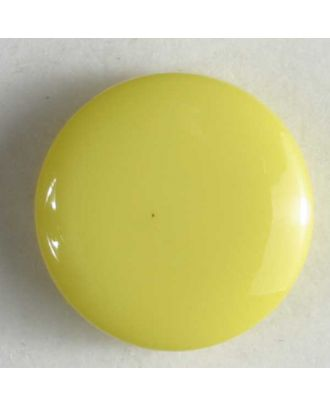Modeknopf schlicht, glänzend -  Größe: 10mm - Farbe: gelb - Art.Nr. 150163