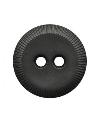 Polyamidknopf rund mit 2 Löchern - Größe:  13mm - Farbe: grau - ArtNr.: 228800
