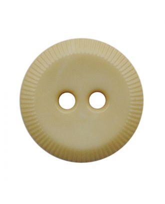 Polyamidknopf rund mit 2 Löchern - Größe:  13mm - Farbe: hellbeige - ArtNr.: 228801