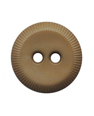 Polyamidknopf rund mit 2 Löchern - Größe:  13mm - Farbe: beige - ArtNr.: 228802