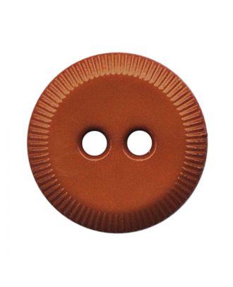 Polyamidknopf rund mit 2 Löchern - Größe:  13mm - Farbe: braun - ArtNr.: 228803