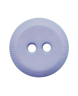 Polyamidknopf rund mit 2 Löchern - Größe:  13mm - Farbe: hellblau - ArtNr.: 228804
