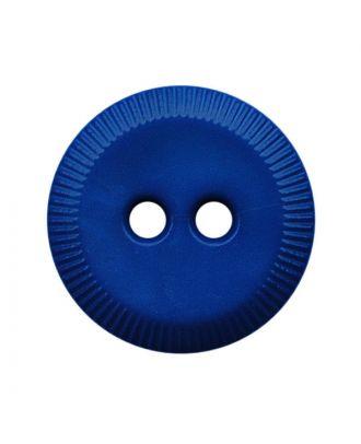 Polyamidknopf rund mit 2 Löchern - Größe:  13mm - Farbe: blau - ArtNr.: 228805