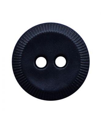 Polyamidknopf rund mit 2 Löchern - Größe:  13mm - Farbe: dunkelblau - ArtNr.: 228806
