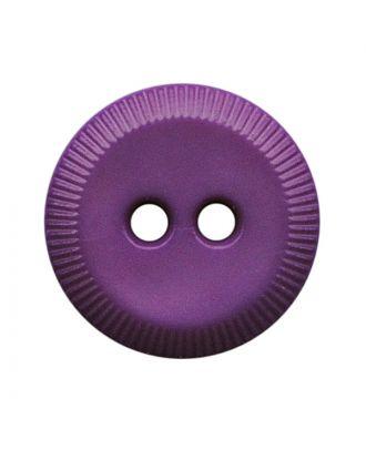 Polyamidknopf rund mit 2 Löchern - Größe:  13mm - Farbe: lila - ArtNr.: 228808
