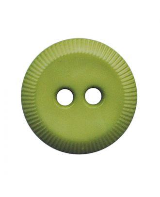 Polyamidknopf rund mit 2 Löchern - Größe:  13mm - Farbe: hellgrün - ArtNr.: 228809
