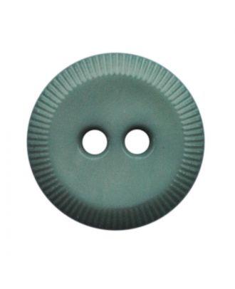 Polyamidknopf rund mit 2 Löchern - Größe:  13mm - Farbe: grün - ArtNr.: 228810