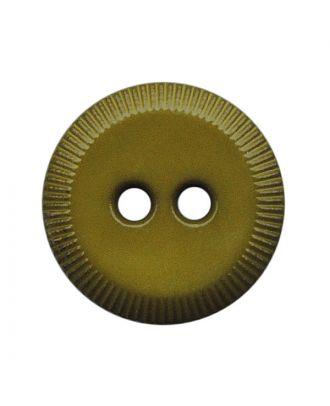 Polyamidknopf rund mit 2 Löchern - Größe:  13mm - Farbe: khaki - ArtNr.: 228811