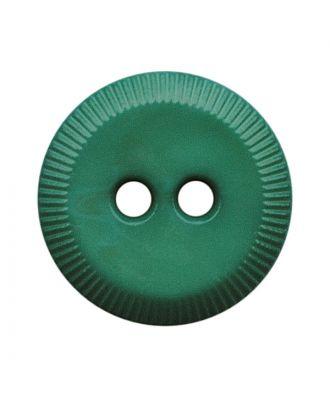 Polyamidknopf rund mit 2 Löchern - Größe:  13mm - Farbe: grün - ArtNr.: 228812